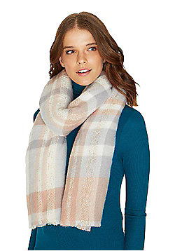 F&F Pastel Check Scarf - Pink & Purple