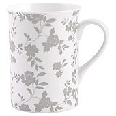 Tesco Fine Bone China Traditional Mug, Floral Beige