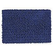 Tesco Chenille Bath Mat Navy Blue