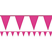 Giant Hot Pink Bunting - Plastic 10m