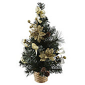 Mini decorated tree gold