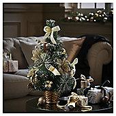 Mini Gold Decorated Christmas Tree