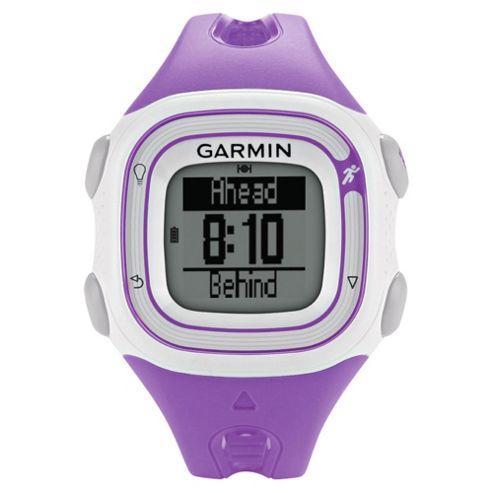 Garmin Forerunner 10 GPS Running Watch, Violet and White