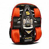 Non Branded Race Black 3D Backpack