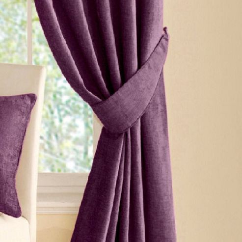 Montgomery Vogue Pair of Tiebacks in Aubergine