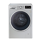 LG F14U2TDN5, 8kg Washing Machine, Turbo Wash, Smart Diagnosis, 1400 RPM, Silver
