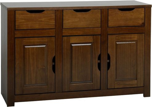Home Essence Eclipse 3 Door Sideboard - Walnut