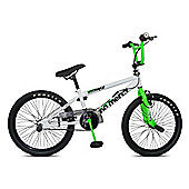 "Rooster No Mercy 20"" Wheel Freestyle Gyro BMX White/Neon Green"
