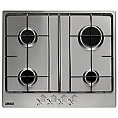 Zanussi ZGG65414SA 60cm Gas Hob in Stainless Steel 4 gas burners