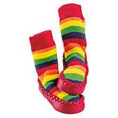 Mocc Ons Rainbow Stripe 6-12 months