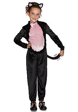 F&F Halloween Cat Dress-Up Costume - Black & Pink