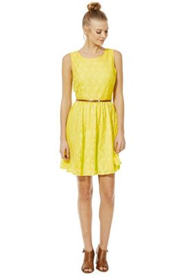Tesco f f yellow dress hat color
