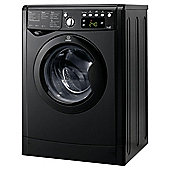 Indesit IWDE7145K Washer Dryer, 7kg Load, 1400 RPM Spin, B Energy Rating, Black