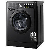 Indesit IWDE7145K Washer Dryer, 7Kg Wash Load, 1400 RPM Spin, B Energy Rating, Black