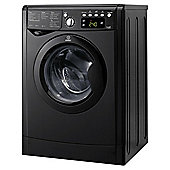 Indesit IWDE7145K, Freestanding Washer Dryer, 7Kg Wash Load, 1400 RPM Spin, B Energy Rating, Black