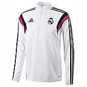 2014-15 Real Madrid Adidas Training Top (White) - White