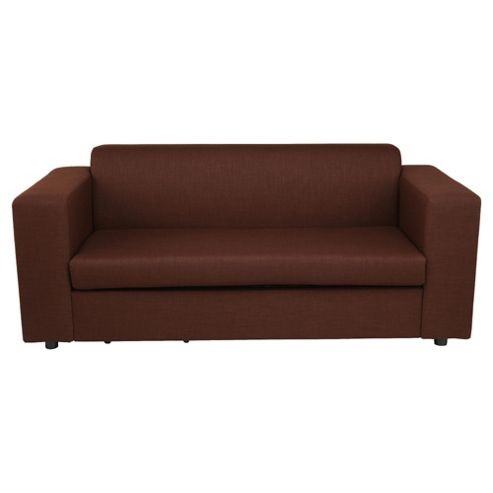 Stanza Fabric Sofa Bed Chocolate