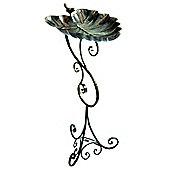Gardman Ornate Leaf Pedestal Bird Bath