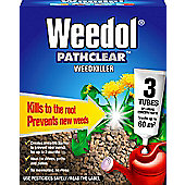 Weedol Pathclear Weedkiller - Kills Weeds and Roots - 3 Tubes