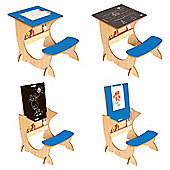 Little Helper 3 In 1 Wooden Art Station Infant Desk Maple / Blue