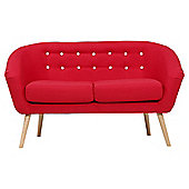 Jemima Tub Sofa Red/Grey Button