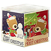 Cute Bear Christmas Cards, 20 pack