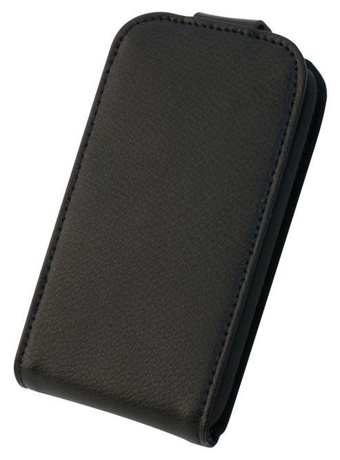 Tortoise™ Genuine Leather Flip Case iPhone 3GS Black