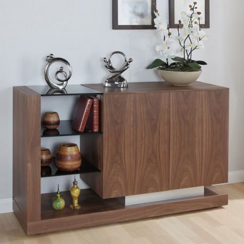 Jual Cube Sideboard with Open Shelving - Walnut - Black