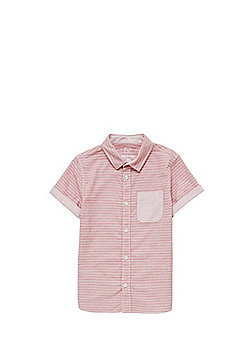 F&F Narrow Stripe Short Sleeve Shirt - Red