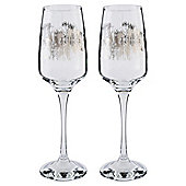 Tesco Pewter Pattern Grand Hotel Square Champagne Flute