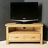 London Oak Corner TV Stand - Light Oak