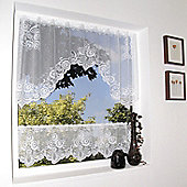 Loscher Ardison Envelope and Cafe Curtain Set in White