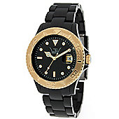 LTD Classic Unisex Black Plastic Date Watch 0307D