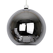 Glass Globe Ceiling Light Pendant Shade in Metallic Black Nickel