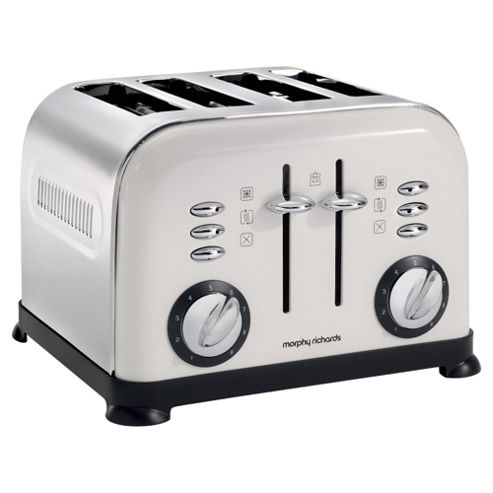 Morphy Richards 44799 Accents 4 Slice Toaster - White