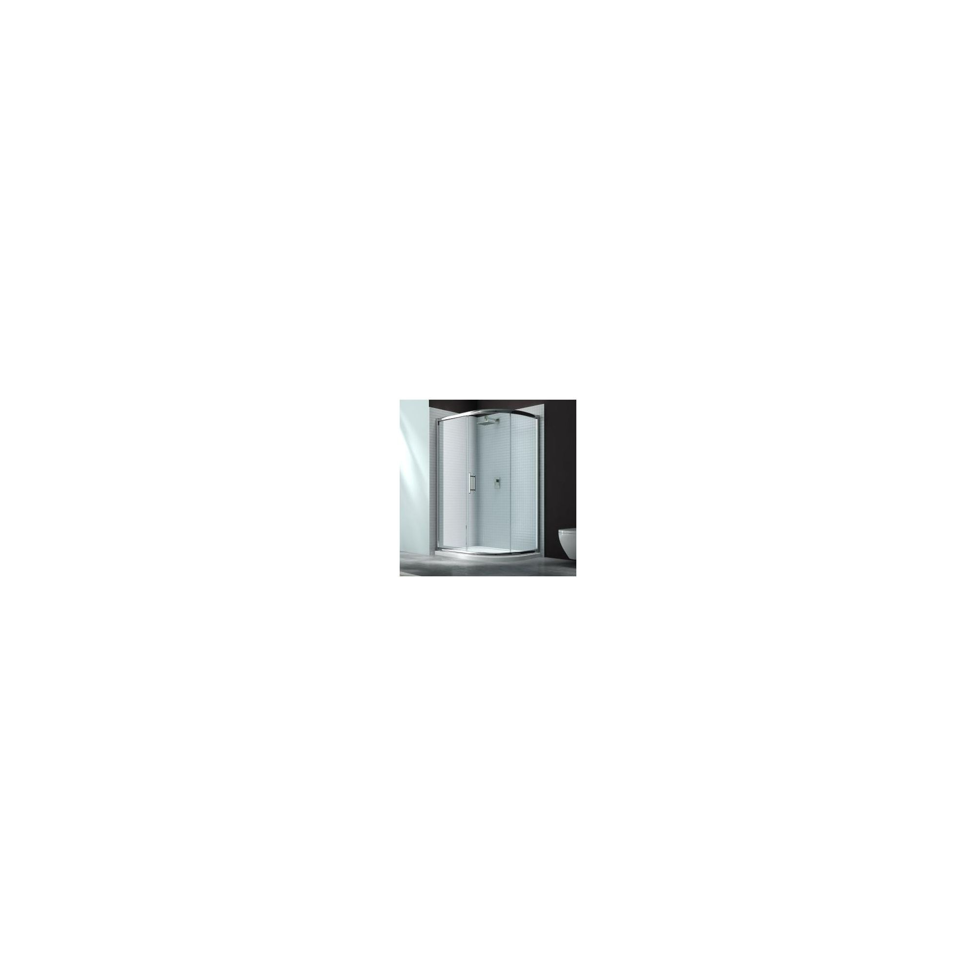 Merlyn Series 6 Offset Quadrant Shower Door, 900mm x 760mm, Chrome Frame, 6mm Glass at Tescos Direct
