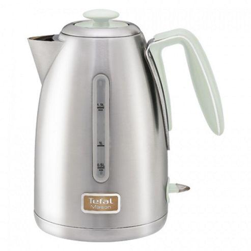 buy tefal 1 7l maison stainless steel jug kettle sage. Black Bedroom Furniture Sets. Home Design Ideas
