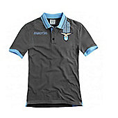 2013-14 Lazio Cotton Polo Shirt (Grey) - Navy