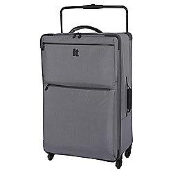 IT Luggage Worlds Lightest 4-Wheel Large Charcoal Suitcase