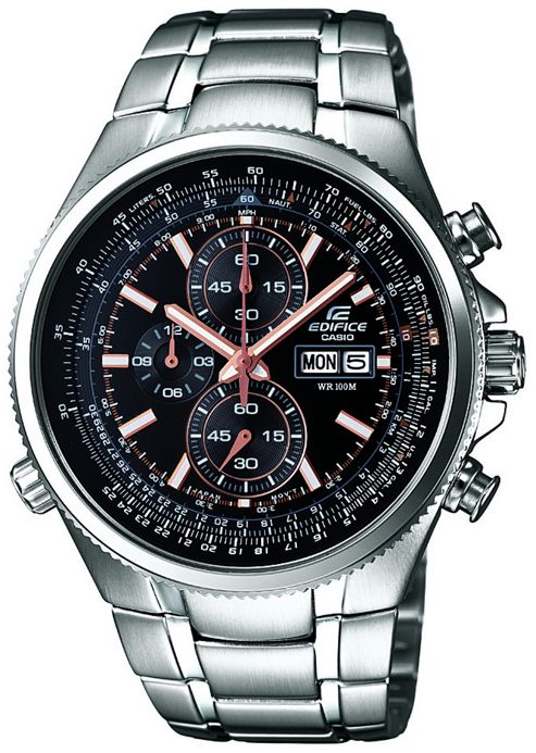 Casio Edifice Mens Stainless Steel Chronograph Day Date Watch EFR-506D-1AVEF