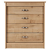 Thornton 4 Drawer Chest,  Oak Effect