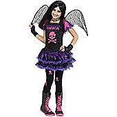 Child Pink Skull Fairy Costume Large