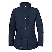 Trespass Ladies Bronwyn Quilted Jacket - Navy