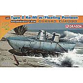 Type 2 Ka-Mi W/Floating Pontoon Amphibious Tank - Scale 1:72 - No7485 - Model Kit - Dragon
