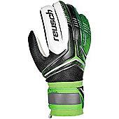 Reusch Re:Ceptor Mens Goalkeeper Goalie Glove Black/Dark Green - Green