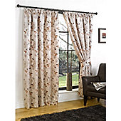Hamilton McBride Henley Pencil Pleat Lined Curtains - Orange