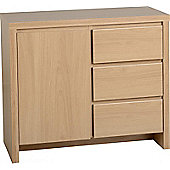 Kingston 1 Door 3 Drawer Sideboard Euro Oak