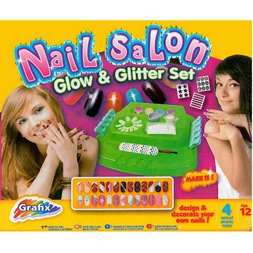 Grafix Nail Salon Glow and Glitter Set