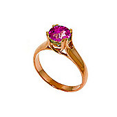 QP Jewellers 1.10ct Pink Topaz Solitaire Ring in 14K Rose Gold