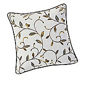 Rectella Leaf Trail Natural Tapestry Look Cushion Cover - 45cm x 45cm